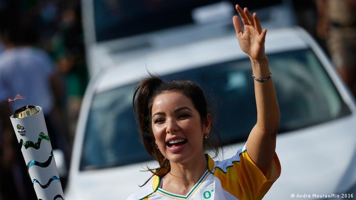 Städte-Tour des Olympischen Feuer in Brasilien Belem Para