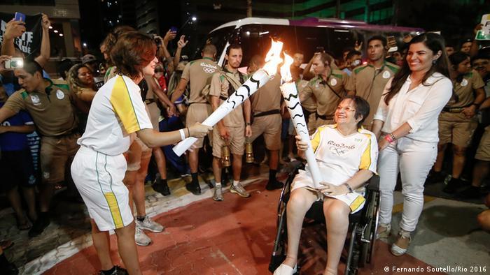 Städte-Tour des Olympischen Feuer in Brasilien Ceara