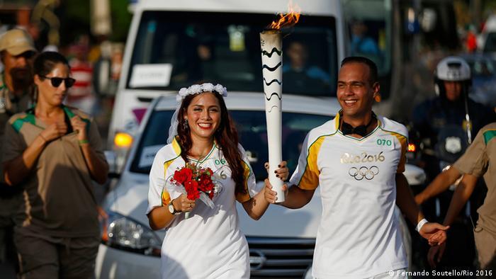 Städte-Tour des Olympischen Feuer in Brasilien Maranhao