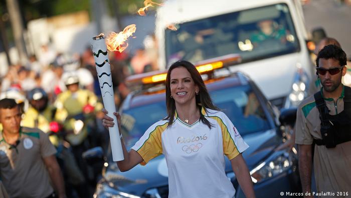 Städte-Tour des Olympischen Feuer in Brasilien Rio Grande do Norte