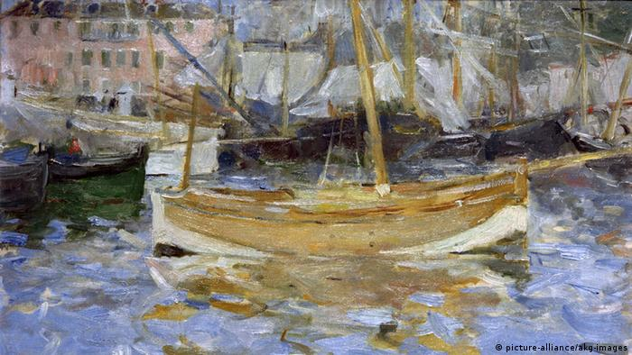 Berthe Morisot's 'The Harbor of Nice'. Copyright: picture-alliance/akg-images