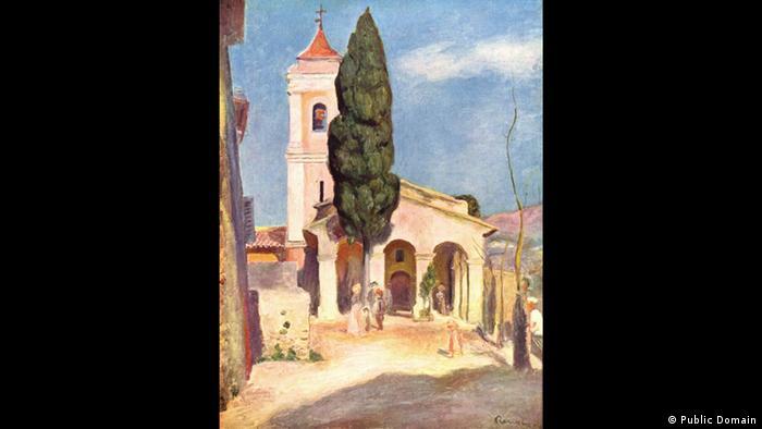 Pierre-Auguste Renoir Kirche in Cagne. Copyright: Public Domain