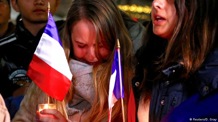 French mourners in Sydney