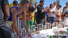 Frankreich Gedenkstätte an der Strandpromenade in Nizza