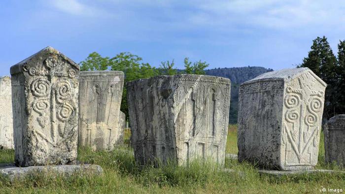 Serbien Stecci-mittelalterliche Grabsteine