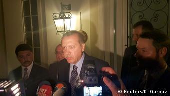 Президент Реджеп Таїп Ердоган виступив перед репортерами у Мармарісі