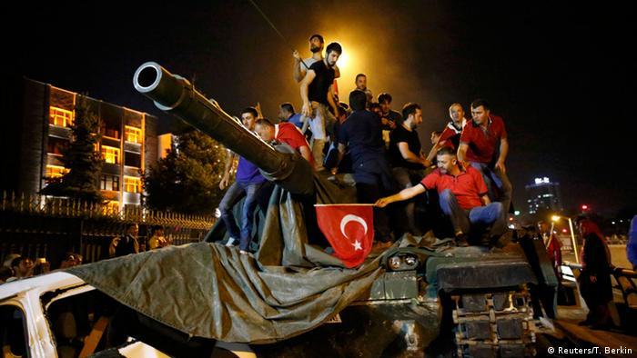 16 июля 2016 года, танки в Анкаре