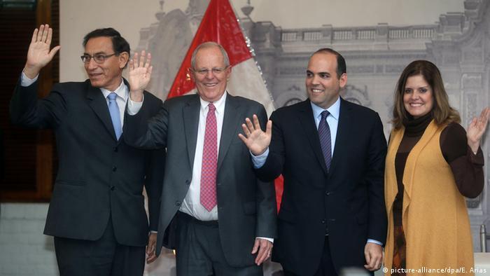 Peru Präsident Pedro Pablo Kuczynski und sein Kabinett