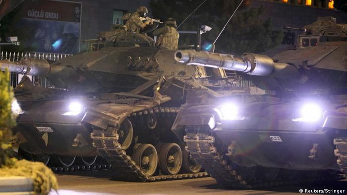 Tanks on the streets of Ankara