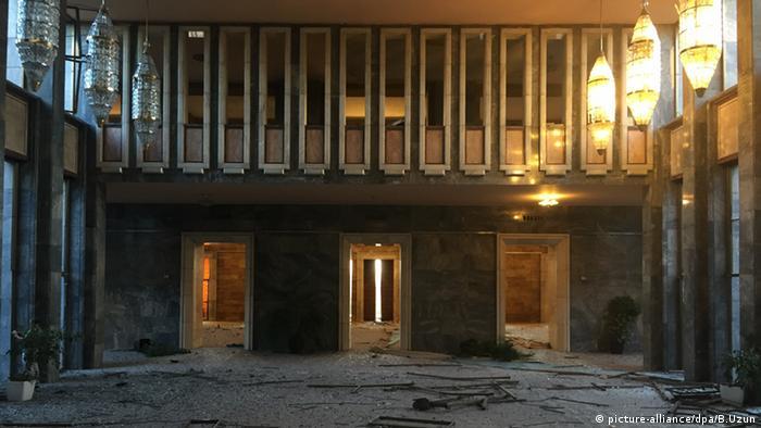 Türkei Gebäude Nationalversammlung Zerstörung durch Bomben Ankara