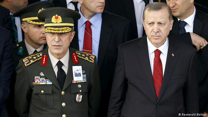 Turkish President Tayyip Erdogan with General Hulusi Akar