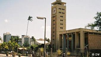 Das Parlamentsgebäude in Nairobi