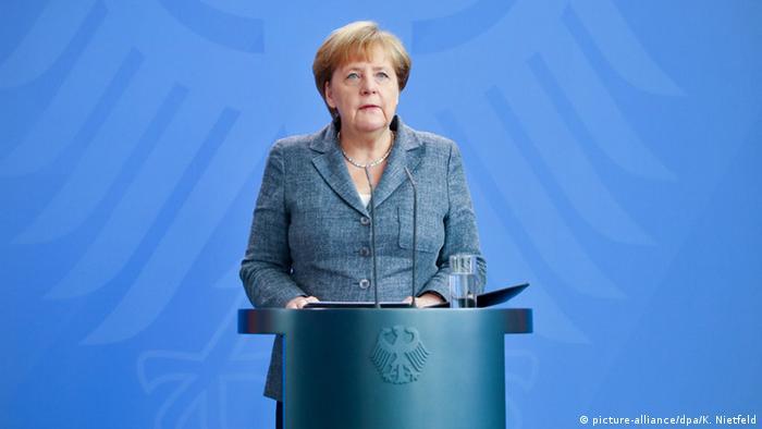 Angela Merkel im Kanzleramt (Foto: dpa)