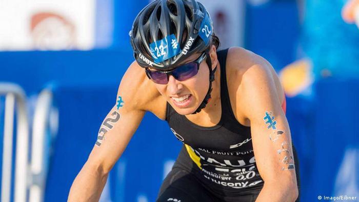 German triathlete Anne Haug