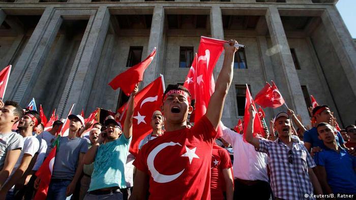 Акция перед зданием турецкого парламента