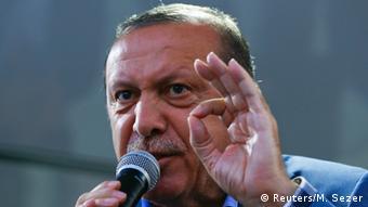 Эрдоган выступает в Стамбуле