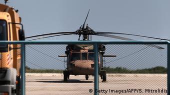 Александропулос, Греция. Вертолет Black Hawk, на котором прибыли военные, запросившие политического убежища.