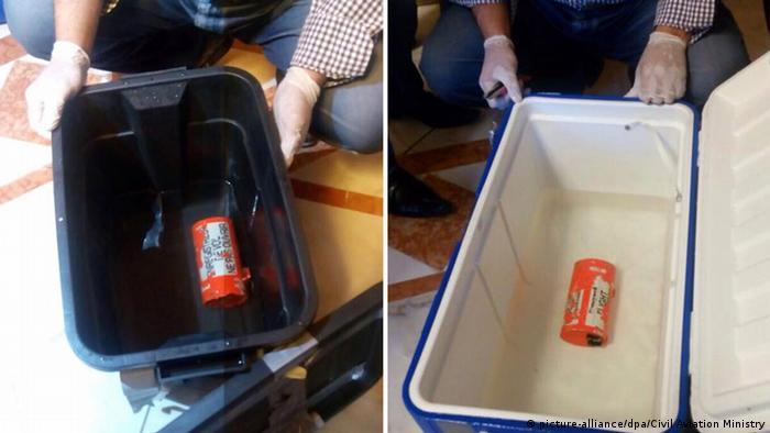 Ägypten Egyptair-Flugzeug Die Black Boxe