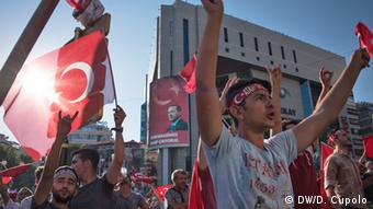 Демонстрация в Анкаре, 16 июля 2016 г.