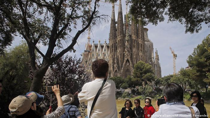 Spanien Tourismus Barcelona Sagrada Familia