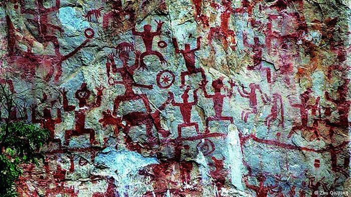 Наскальные рисунки в горах Хуа
