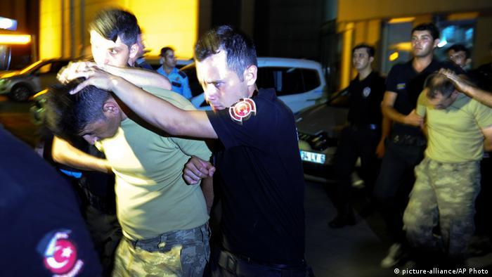 Задержания военных в Стамбуле