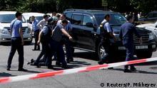 Kasachstan Angriff auf Polizei in Almaty