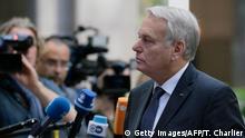 Belgien Jean-Marc Ayrault EU Außenministertreffen in Brüssel