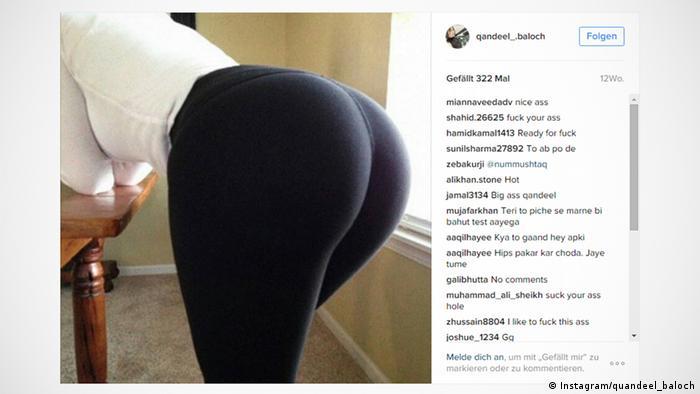 Screenshot Instagram/quandeel_baloch