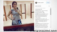*** Nur für aktuelle Berichterstattung *** Screenshot Instagram/quandeel_baloch 18.07.2016 https://www.instagram.com/p/BHnDmIRh_SK/ (c) Instagram/quandeel_baloch