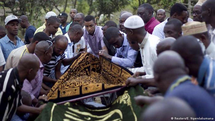 Burundi burial of Hafsa Mossi