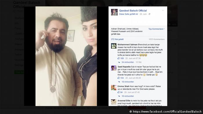 Qandeel Baloch / Abdul Qavi facebook