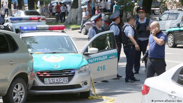После теракта в центре Алма-Аты