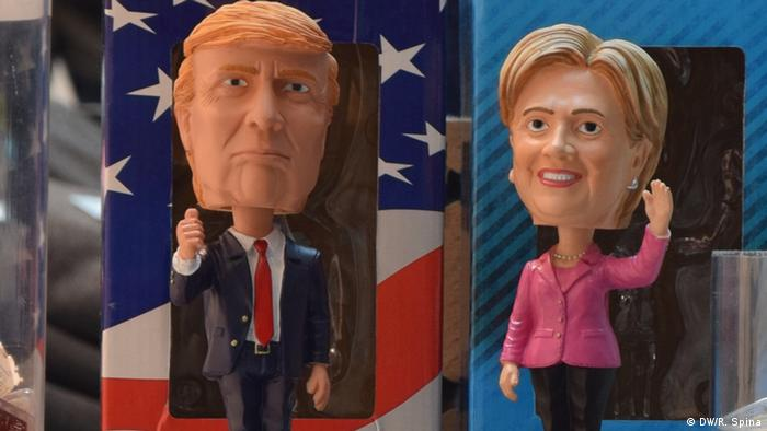 USA Donald Trump und Hillary Clinton als Figuren
