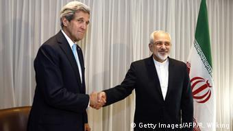 Главы внешнеполитических ведомств США и Ирана после переговоров по ядерной сделке, январь 2015 года
