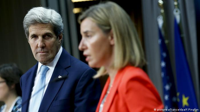 John Kerry in Brüssel mit Federica Mogherini