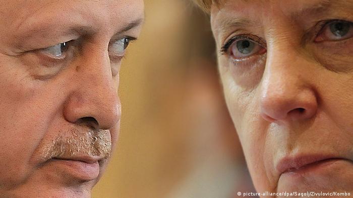 Bildkombo Angela Merkel Recep Tayyip Erdogan (picture-alliance/dpa/Sagolj/Zivulovic/Kombo)