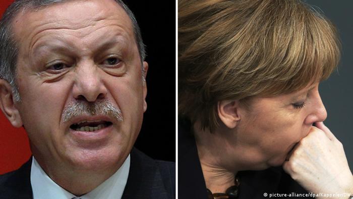 Recep Tayyip Erdogan and Angela Merkel