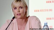Charlize Theron Welt AIDS Konferenz in Durban