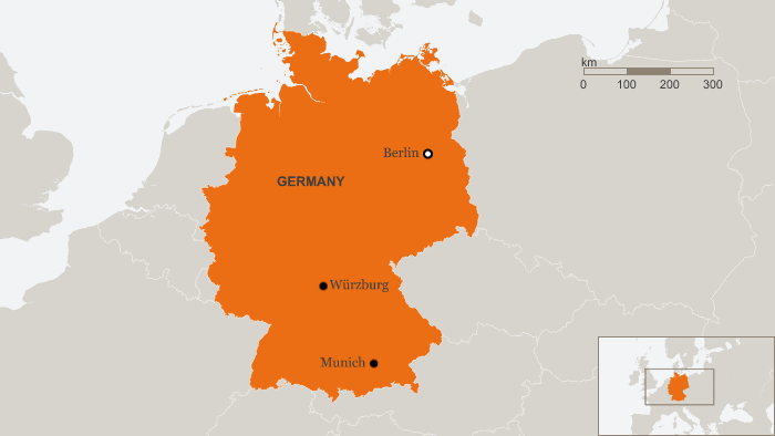 Several injured in attack on train near W rzburg southern Germany – Southern Germany Map