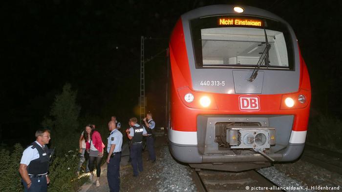 Поезд, в котором произошло нападение под Вюрцбургом
