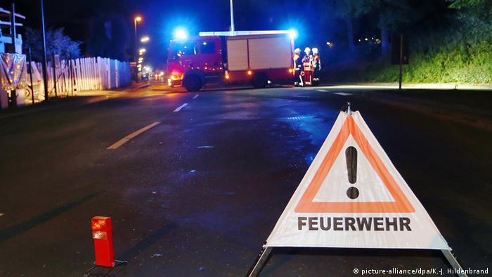 Проезжая часть близ станции Вюрцбург-Хайдингсфельд перекрыта, идет полицейская операция.