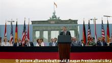 US-Präsident Ronald Reagan in West-Berlin 1987