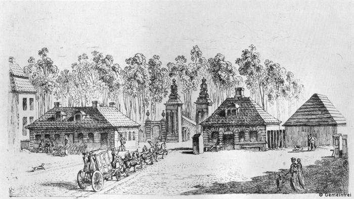 La antigua Puerta de Brandeburgo. (1764).