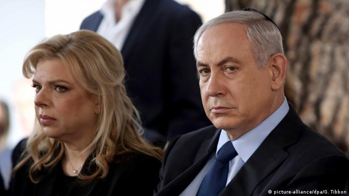Israel Benjamin Netanjahu und Ehefrau Sara Netanjahu (picture-alliance/dpa/G. Tibbon)