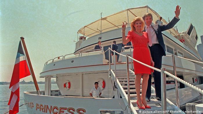 Donald Trump mit damaliger Ehefrau Ivana