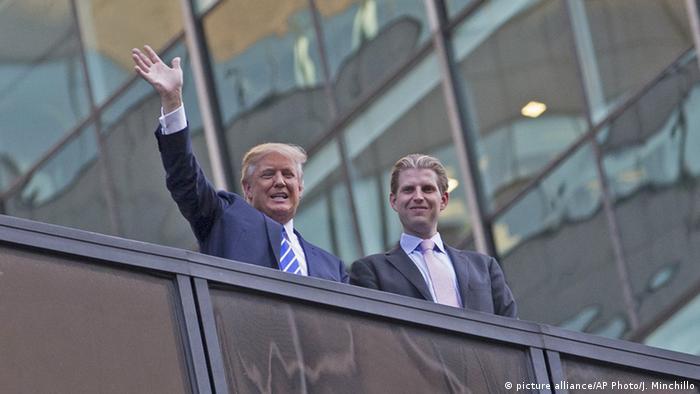 Donald Trump mit Sohn Eric