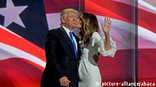 Donald Trump mit Ehefrau Melania auf der Republican National Convention