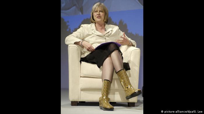 Großbritannien Theresa May Wellington Boots