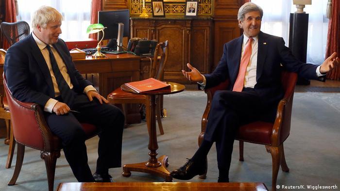 Boris Johnson and John Kerry in London